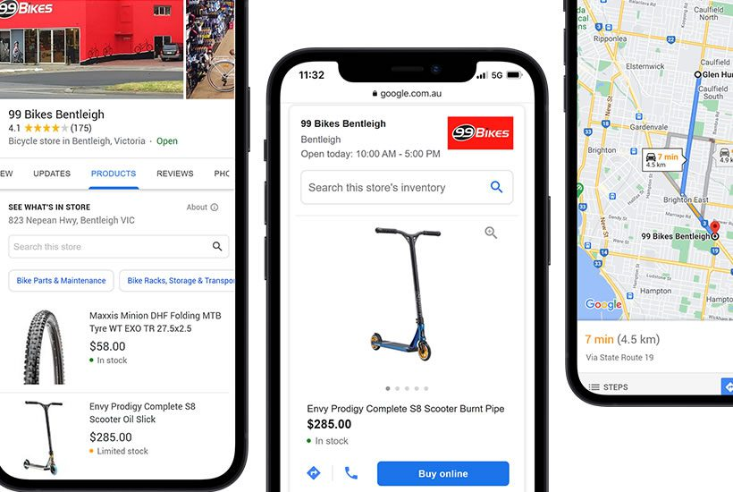 Using stockinstore, if your Store comes up in a Google search, people can now see all the products available in your stores nearby.